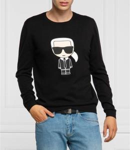 Sweter Karl Lagerfeld z wełny w młodzieżowym stylu