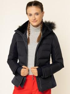 Granatowa kurtka Salomon krótka w stylu casual