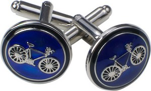 Republic of Ties Spinki mankietowe rower srebrny