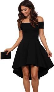c008f56fab Elegrina elegancka sukienka cicci czarna bez ramiączek