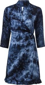 Niebieska sukienka bonprix BODYFLIRT z długim rękawem