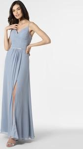 Niebieska sukienka Luxuar Fashion z szyfonu