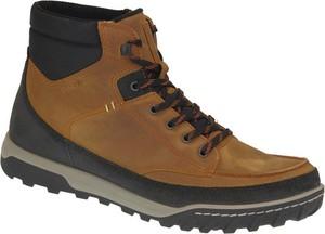 Buty zimowe Ecco sznurowane ze skóry