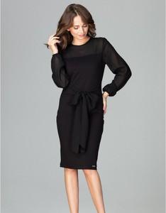 Czarna sukienka LENITIF midi ołówkowa