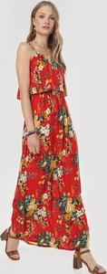 Sukienka born2be z dekoltem w kształcie litery v maxi na ramiączkach