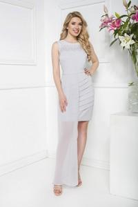 Sukienka Marcelini prosta z szyfonu