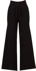 Czarne spodnie Live The Process w stylu retro z jedwabiu