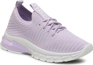 Fioletowe buty sportowe DeeZee z płaską podeszwą sznurowane