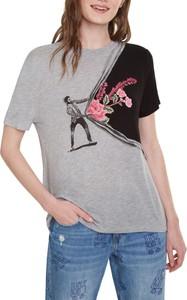 T-shirt Desigual z okrągłym dekoltem z krótkim rękawem