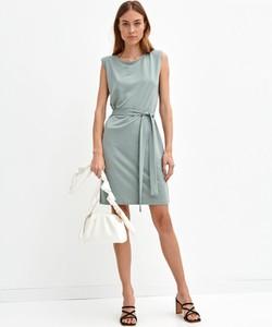 Sukienka Drywash z okrągłym dekoltem mini bez rękawów