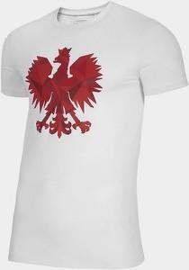 T-shirt 4F z nadrukiem z bawełny w sportowym stylu