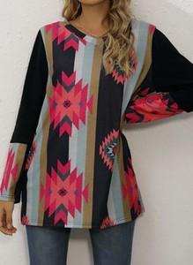 Bluzka Cikelly z długim rękawem z okrągłym dekoltem w stylu casual