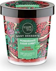 Organic Shop, Body Desserts, peeling do ciała cukrowy, Pomegranate Sugar Sor, 450 ml