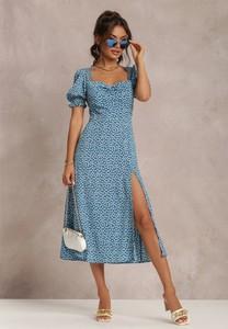 Sukienka Renee z okrągłym dekoltem z krótkim rękawem maxi