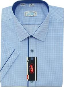 Niebieska koszula Marex Łódź z bawełny z włoskim kołnierzykiem