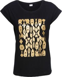 Czarny t-shirt bonprix RAINBOW
