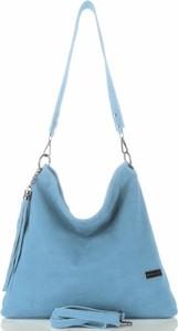 Niebieska torebka VITTORIA GOTTI średnia przez ramię