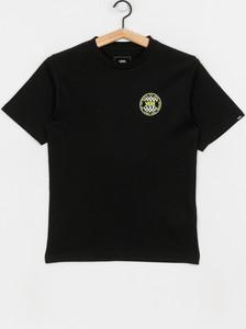 Czarna koszulka dziecięca Vans z bawełny