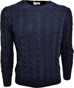 Niebieski sweter Cashmere Company w stylu casual