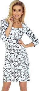 Sukienka NUMOCO mini z długim rękawem dopasowana