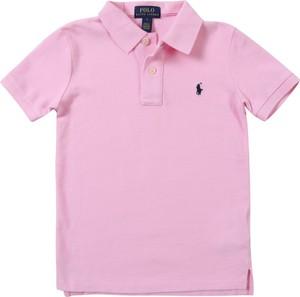 Różowa koszulka dziecięca POLO RALPH LAUREN z dżerseju