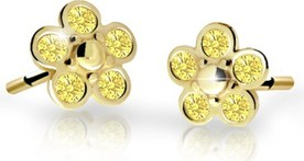 Cutie jewellery kolczyki dla dzieci cutie kwiatki c2744 żółtego, yellow, puzeta
