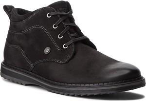 Czarne buty zimowe Lasocki For Men sznurowane z nubuku