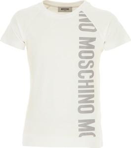 Koszulka dziecięca Moschino z bawełny z krótkim rękawem