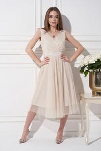 Sukienka Ella Boutique z tiulu z dekoltem w kształcie litery v bez rękawów