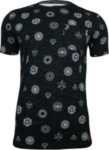 Granatowy t-shirt Brave Soul z krótkim rękawem w młodzieżowym stylu z tkaniny