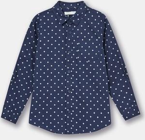 Granatowa koszula dziecięca Sinsay
