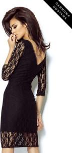 Czarna sukienka Ivon dopasowana