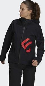 Czarna kurtka Adidas w sportowym stylu krótka