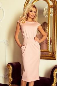 Różowa sukienka NUMOCO midi