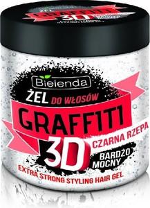 Bielenda, Graffiti 3D, żel do układania włosów z czarną rzepą, bardzo mocny, 250 ml
