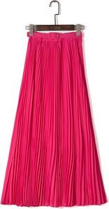 Różowa spódnica Yaze maxi