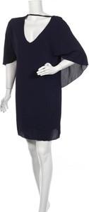 Niebieska sukienka Plume z długim rękawem mini