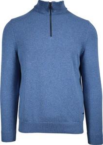 Niebieski sweter Daniel Hechter w stylu casual z wełny