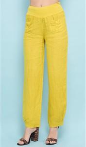 Spodnie 100% Lin z lnu w stylu casual