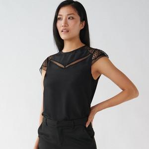 Czarna bluzka Mohito z okrągłym dekoltem