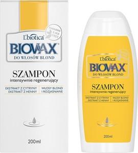 L'Biotica BIOVAX Szampon Regenerujący do włosów blond i rozjaśnianych - 200 ml