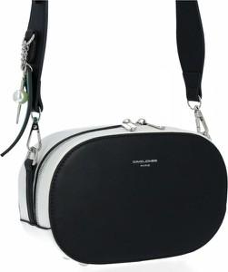 Czarna torebka David Jones w stylu glamour lakierowana