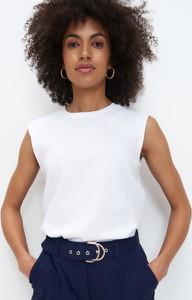 Bluzka Mohito z okrągłym dekoltem w stylu casual bez rękawów