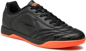Czarne buty sportowe Sprandi w sportowym stylu ze skóry sznurowane