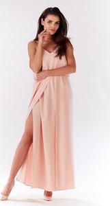 Różowa sukienka Infinite You maxi