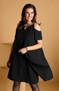 Sukienka Cellbes z okrągłym dekoltem prosta z krótkim rękawem