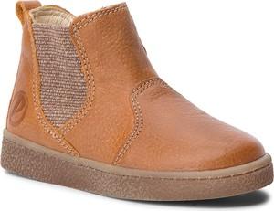 Brązowe buty dziecięce zimowe Primigi z nubuku