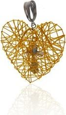 Lovrin Złota zawieszka 585 serce z krzyżykiem 4,27g