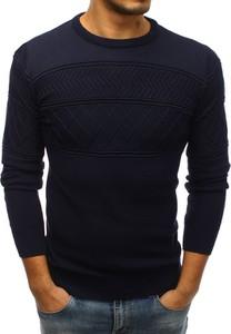 Niebieski sweter Dstreet w stylu casual z bawełny