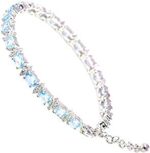 Braccatta EILA Srebrna bransoletka z niebieskimi topazami 6,6 ct